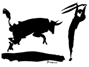 Picasso's sketch of bullfighting